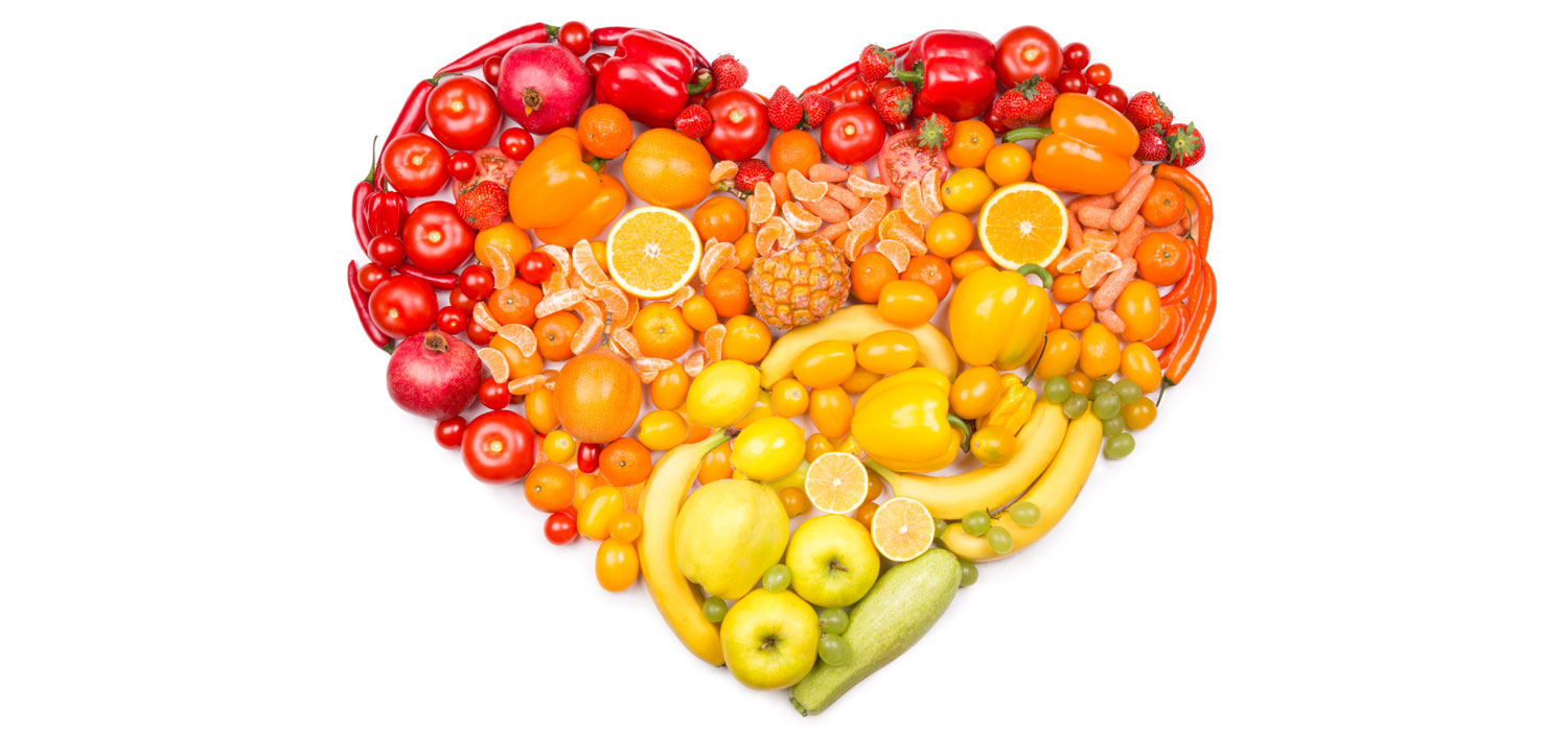 produce in shape of heart