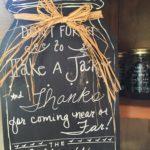 wedding chalk jar sign