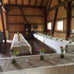 wedding barn setup