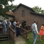 wedding gathering at farmhouse