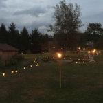 wedding lights at farm
