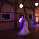 wedding dancing in barn