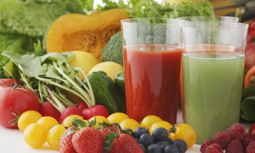 raw food and juice
