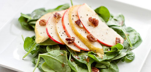 spinach salad apples and walnuts