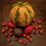 Pumpkin and tomatoes