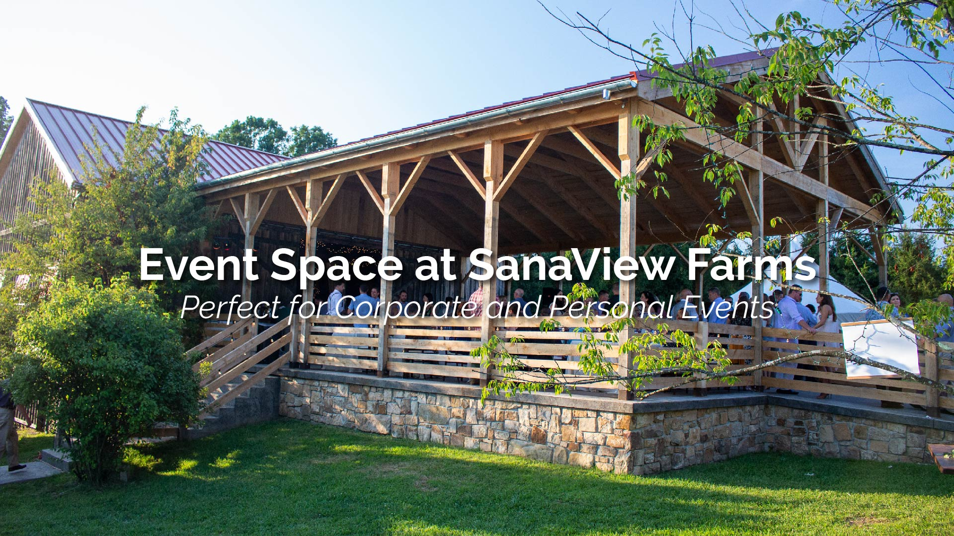 Event Space at SanaView Farms